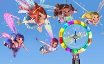 Играть онлайн Винкс 3D магические парашюты бесплатно
