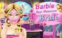 Играть онлайн Барби макияж невесты бесплатно