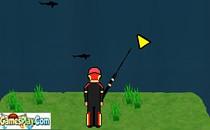 Играть онлайн Ловим акул на рыбалке бесплатно