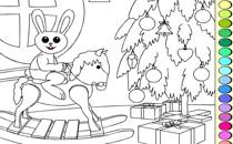 Играть онлайн Раскраска кроликов бесплатно
