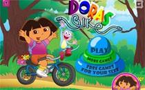 Играть онлайн Даша на велосипеде бесплатно