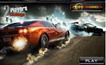 Играть онлайн Гонки на машинах на двоих бесплатно