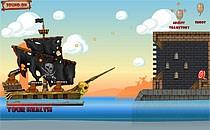 Играть онлайн Пираты Карибского моря разрушают крепости бесплатно