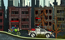 Играть онлайн Уличные гонки стрелялки бесплатно