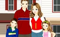 Играть онлайн Одень маму, папу, дочку и сына бесплатно