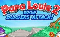 Играть онлайн Папа Луи 2 Атака гамбургеров бесплатно