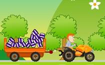 Играть онлайн Перевозка груза на тракторе с прицепом бесплатно
