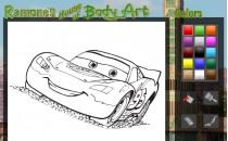 Играть онлайн Раскраска Маквин Тачки бесплатно