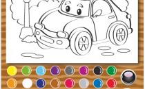 Играть онлайн Раскраска Тачки бесплатно