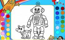 Играть онлайн Раскраска робота бесплатно