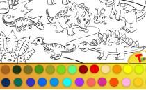 Играть онлайн Раскраска динозавров бесплатно