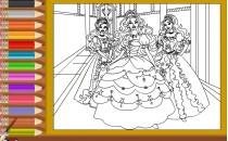 Играть онлайн Раскраска Барби рисовалки бесплатно