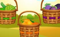 Играть онлайн Овощи и фрукты для детей бесплатно