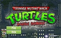 Играть онлайн Черепашки Ниндзя наносят двойной удар бесплатно
