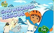 Играть онлайн Диего на сноуборде бесплатно