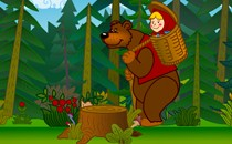 Играть онлайн Маша и Медведь развивающая для малышей бесплатно