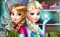 Играть онлайн Холодное сердце Эльза и Анна бесплатно