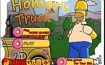 Играть онлайн Симпсоны: Гомер собирает пончики бесплатно