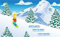Играть онлайн Симпсоны катаются на сноуборде бесплатно