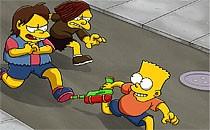 Играть онлайн Симпсоны: Барт против хулиганов бесплатно