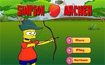 Играть онлайн Симпсоны стреляют из лука бесплатно