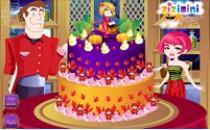 Играть онлайн Украшение торта на Хэллоуин бесплатно