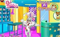 Играть онлайн Кролик идет к врачу бесплатно
