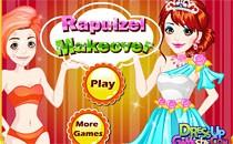 Играть онлайн Прическа и макияж для Рапунцель бесплатно