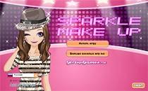 Играть онлайн Блестящий макияж бесплатно